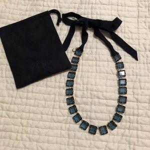 JCrew Blue stone statement necklace